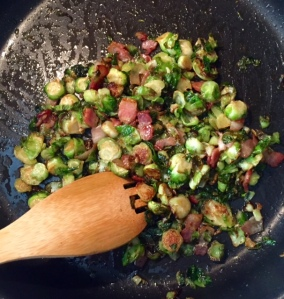 Baby Brussels Sprouts with Applewood Smoked Bacon? Yes Please!